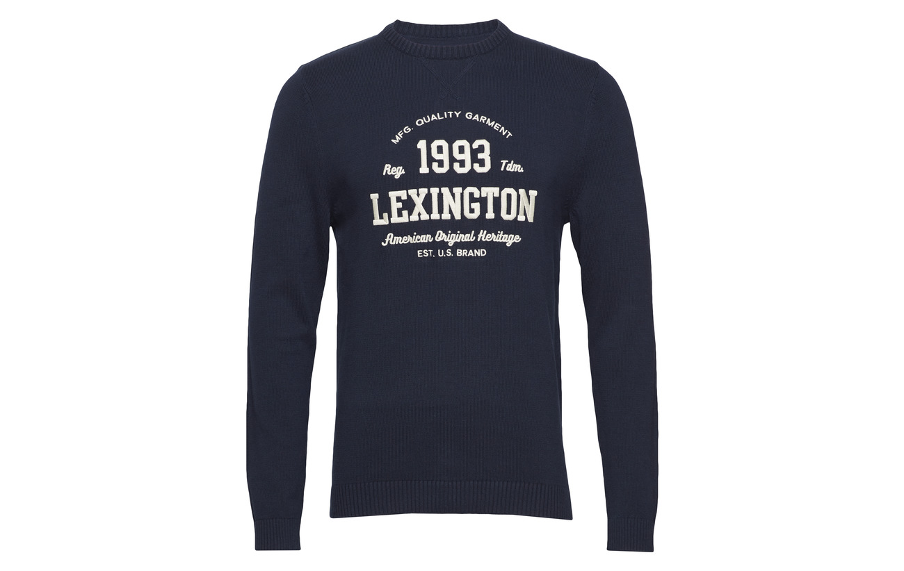 Knitted Blue Clothing Sweatshirt Lexington Nelson Deepest wqHpET