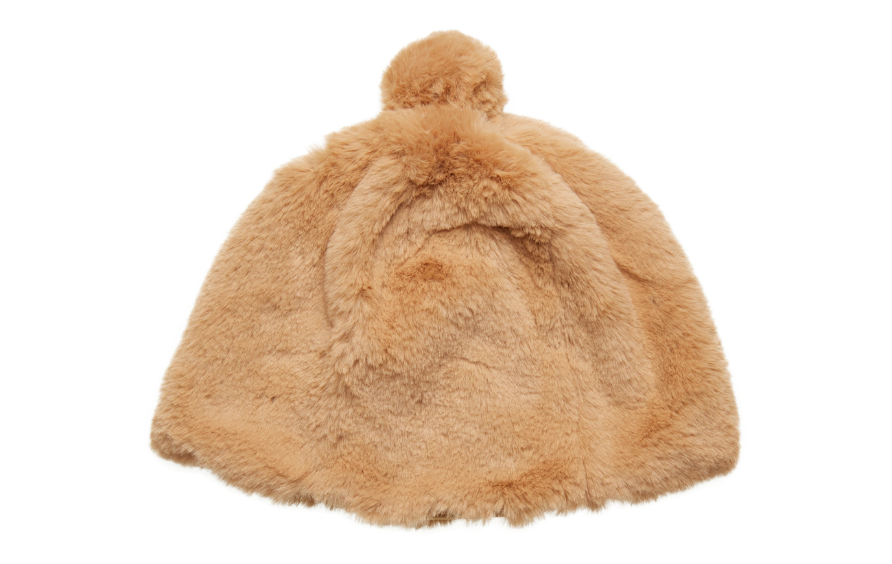Lexington Clothing Colette Faux Fur Beanie - CAMEL