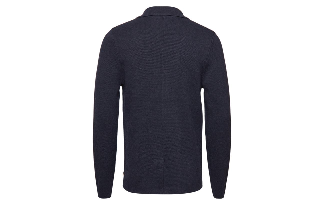 100 Marine Clothing Raymond Deep Blue Knitted Coton Blazer Lexington qFpHZ0wq