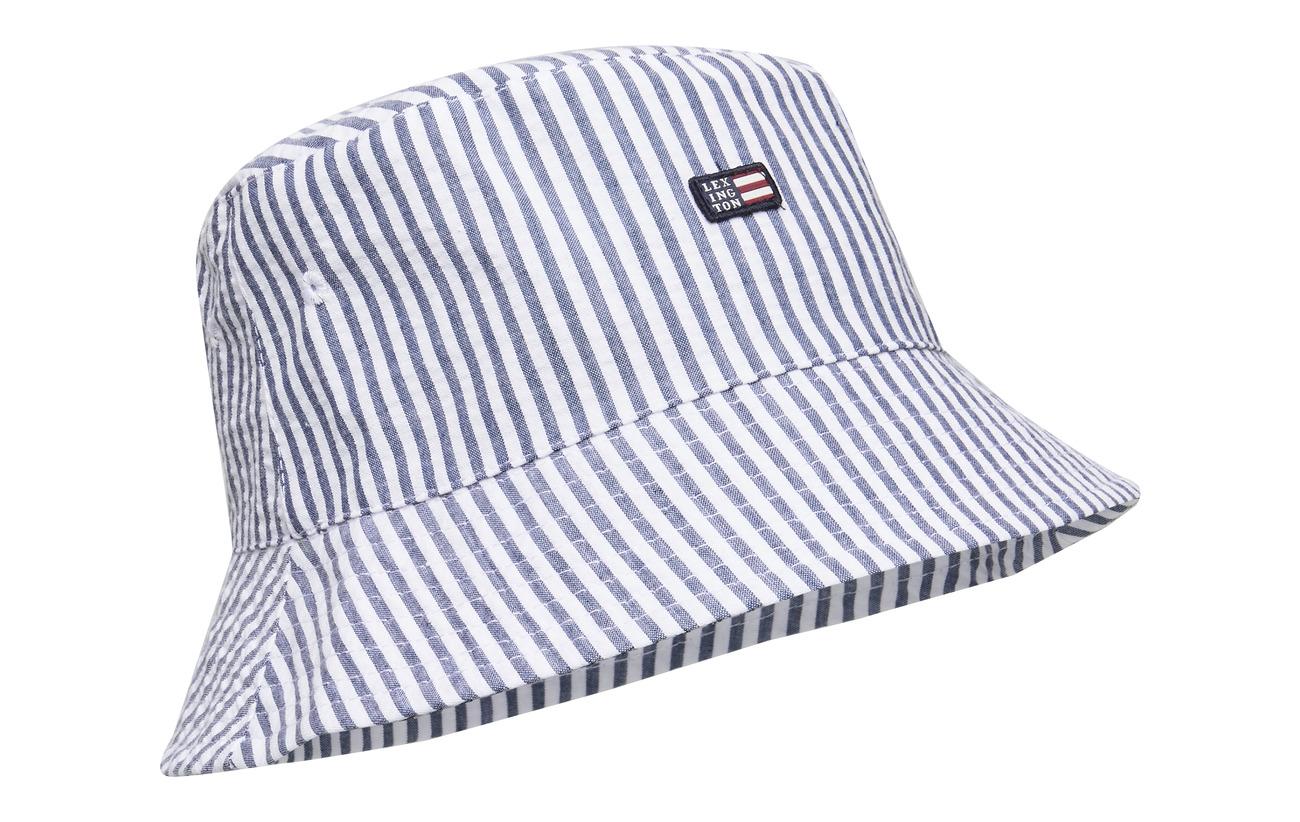 Lexington Clothing Bridgehampton Seersucker Bucket Hat - BLUE/WHITE STRIPE