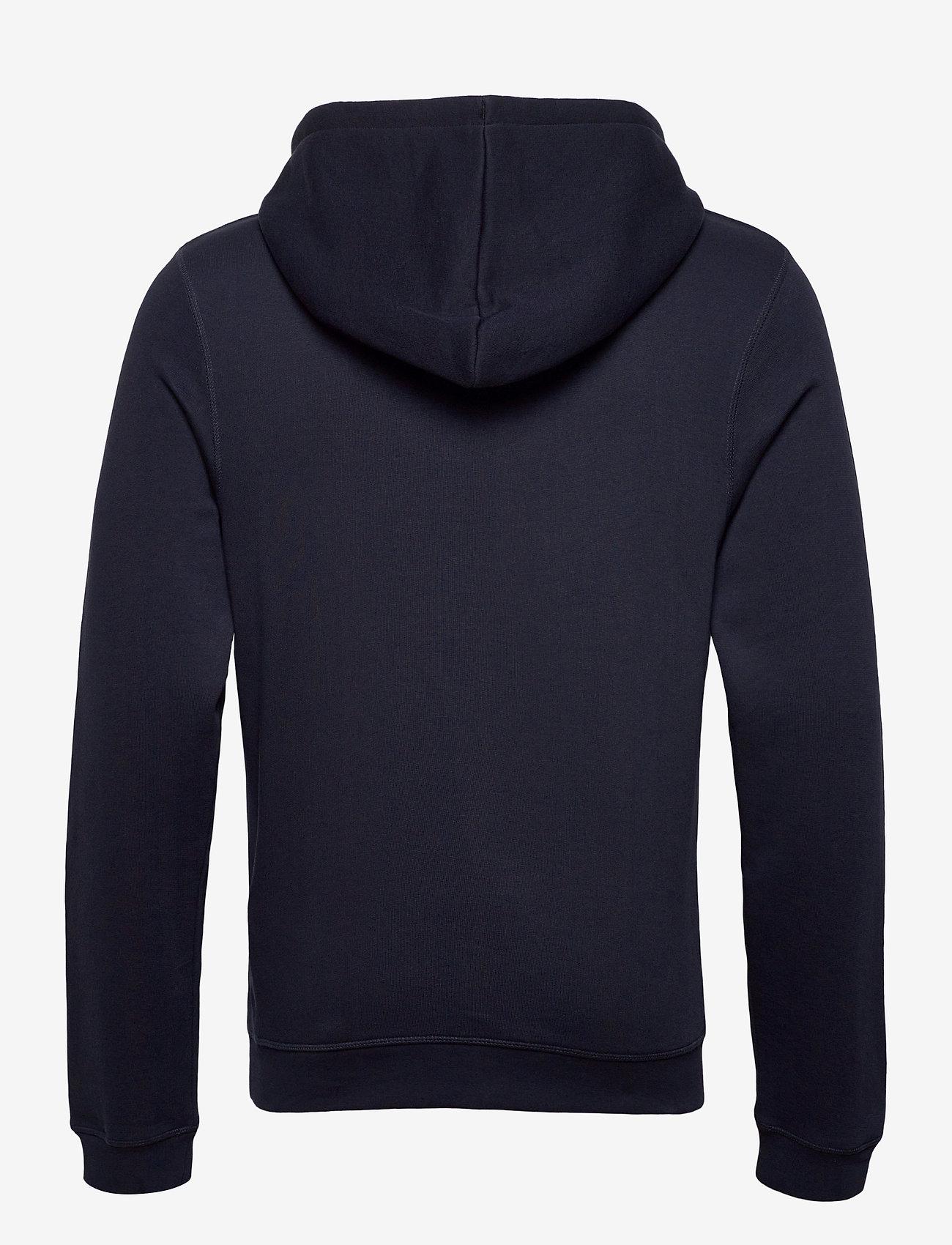 Lexington Clothing Perry Organic Cotton Hood - Sweatshirts DARK BLUE - Menn Klær