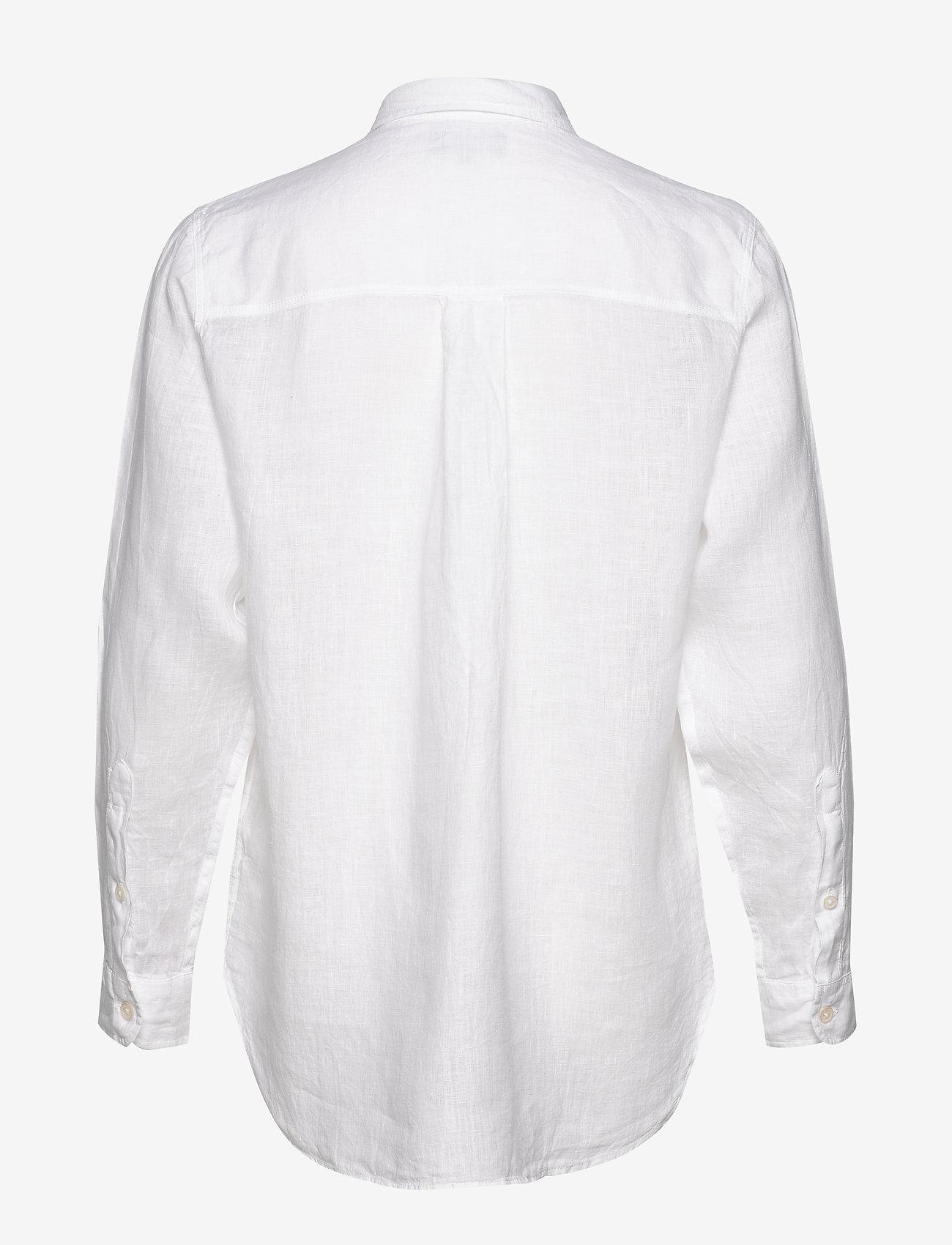 Lexington Clothing - Isa Linen Shirt - langermede skjorter - white