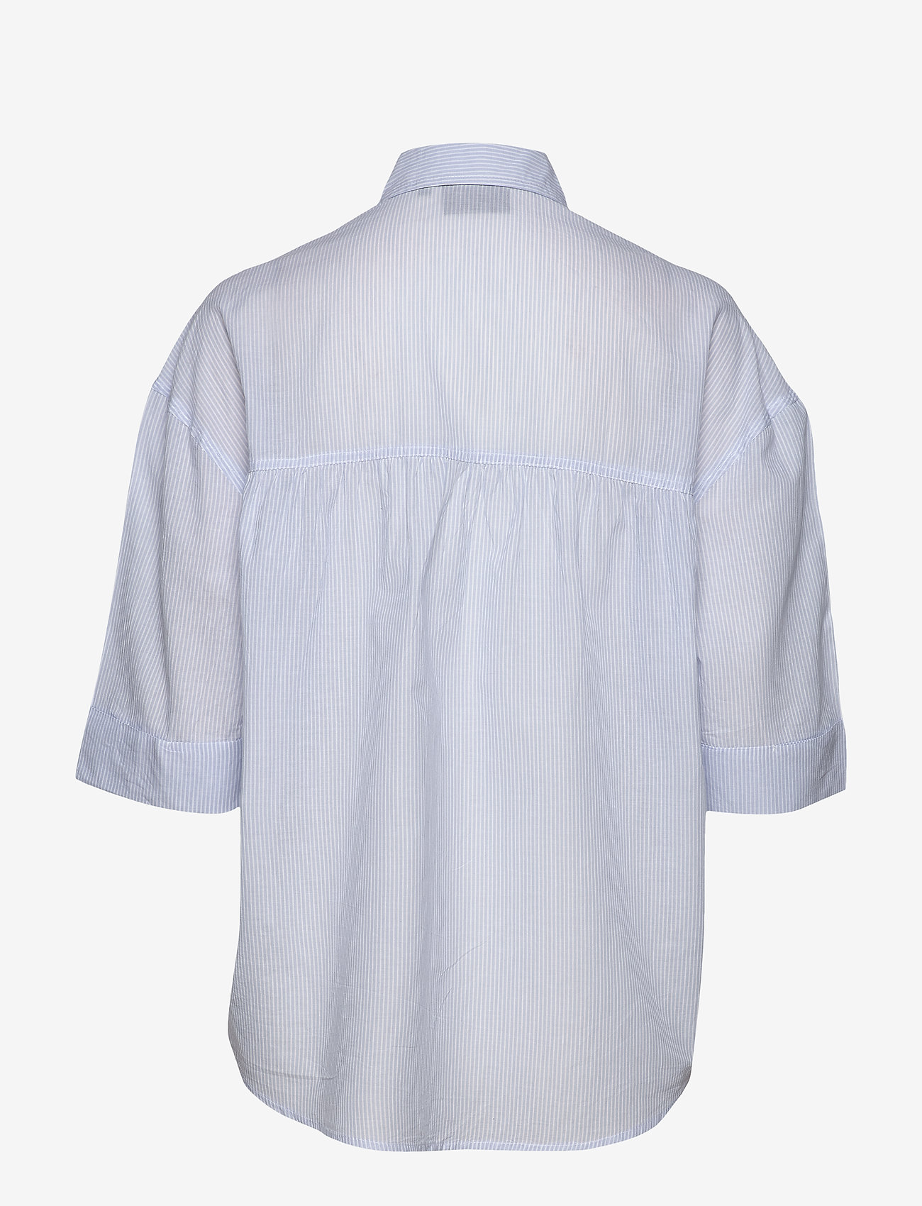 Lexington Clothing - Olympia Shirt - overhemden met korte mouwen - blue/white stripe - 1