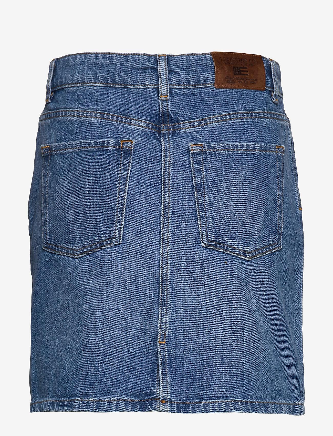 Alexa Blue Denim Skirt (Lt Blue Denim) - Lexington Clothing vto4at