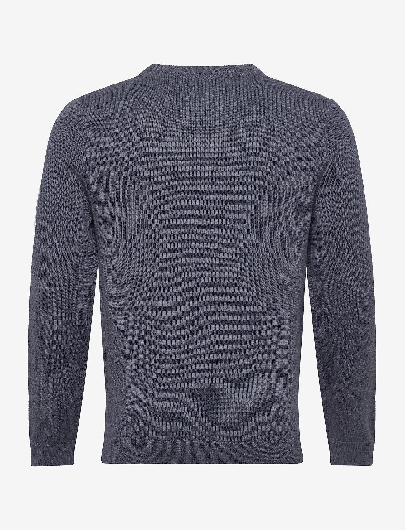 Lexington Clothing Luis Sweater - Strikkevarer BLUE MELANGE - Menn Klær