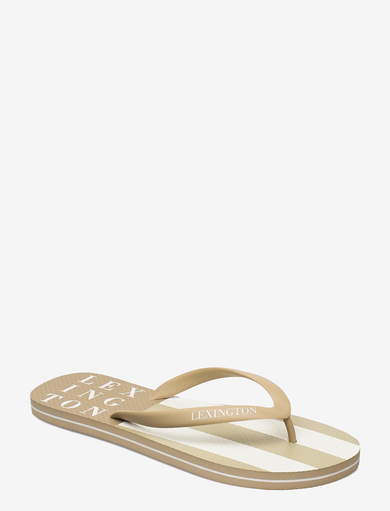 Lexington Clothing - Orlando Flipflop - teen slippers - beige/white stripe - 0