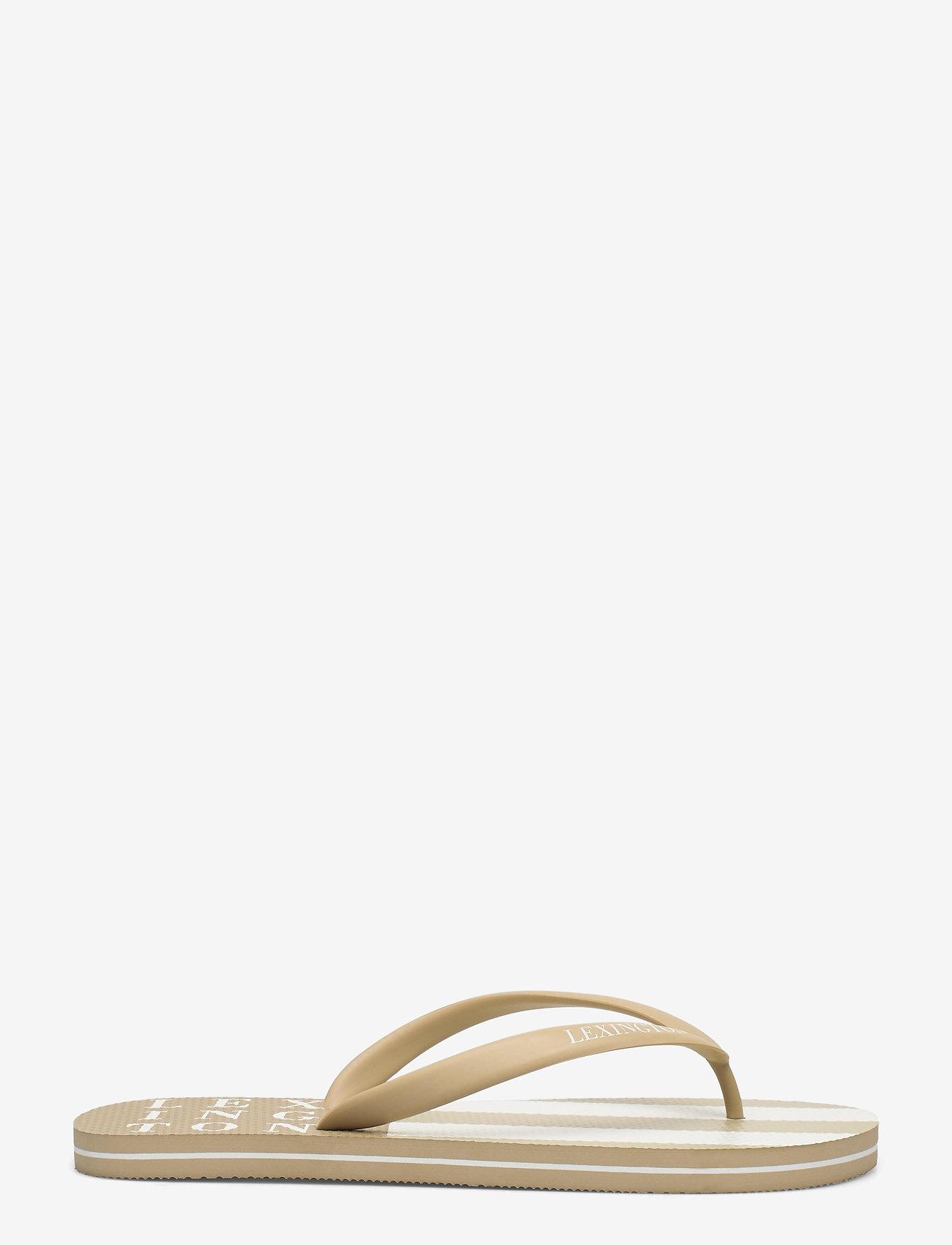 Lexington Clothing - Orlando Flipflop - teen slippers - beige/white stripe - 1