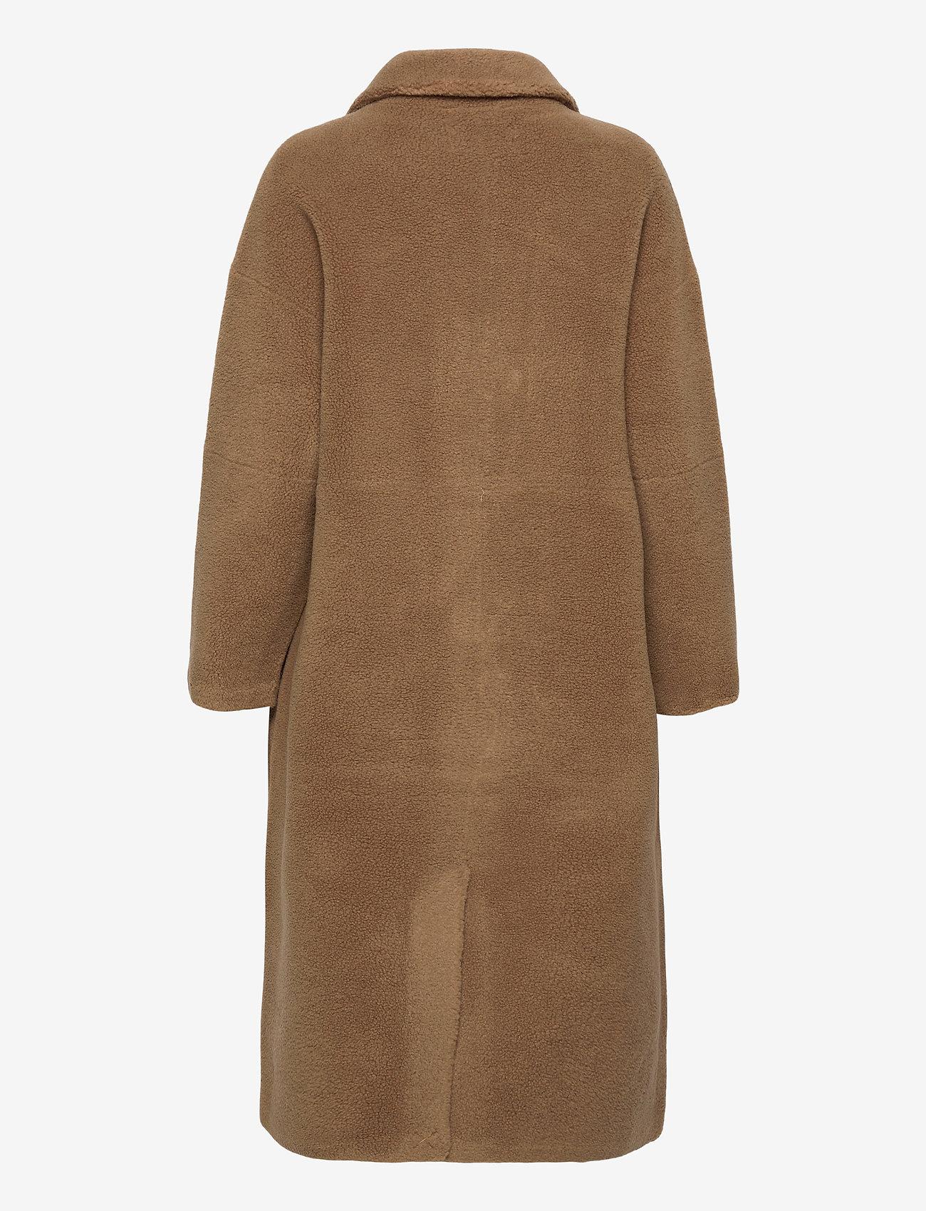Lexington Clothing - Judith Wool Blend Coat - faux fur - brown - 1