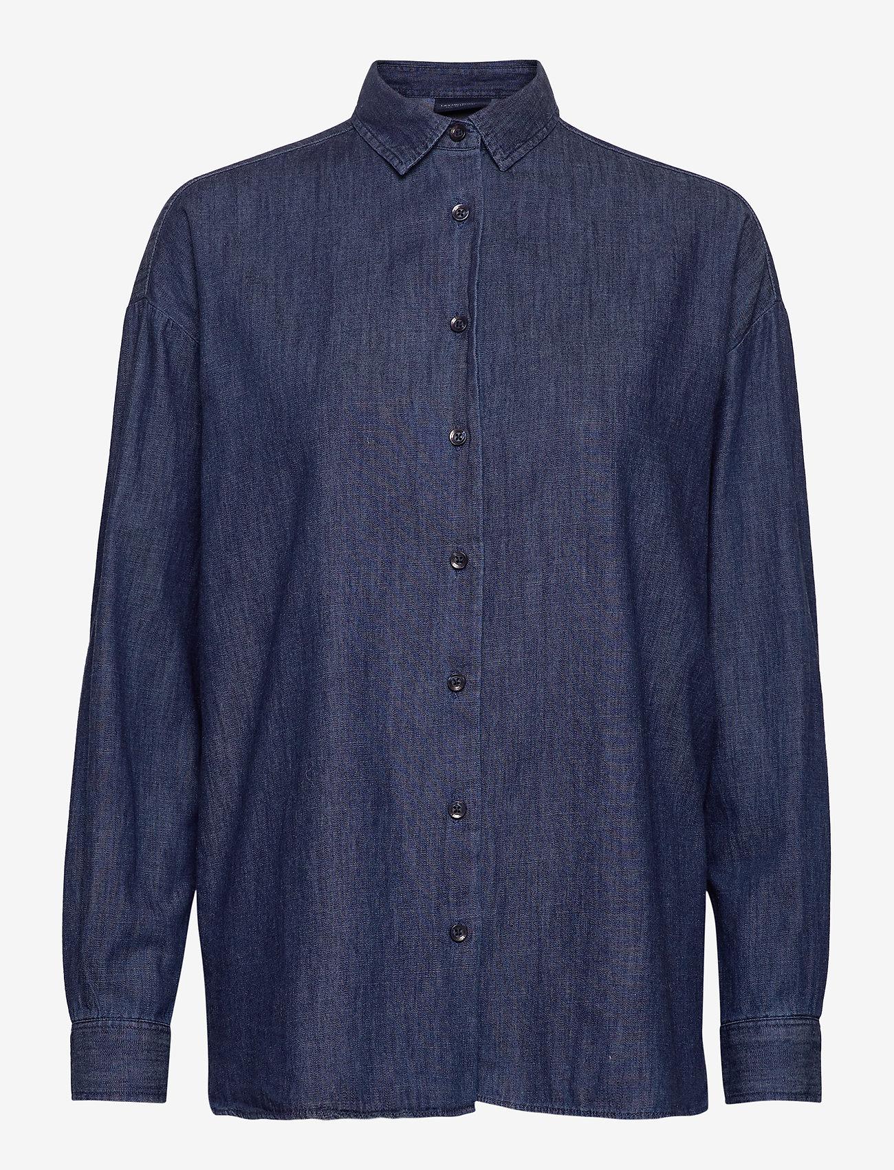 Lexington Clothing - Edith Denim Shirt - jeansblouses - dark blue denim - 1