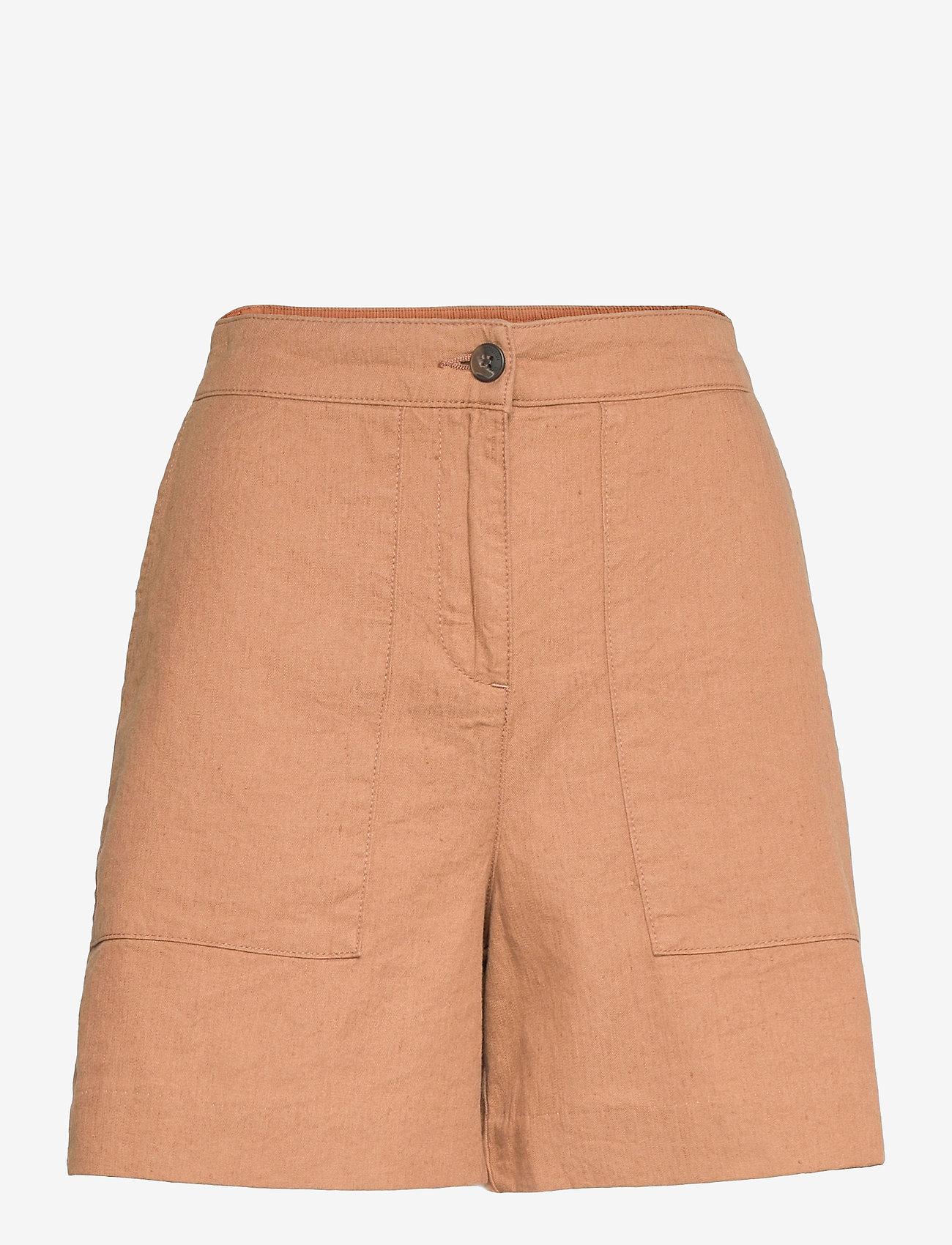 Lexington Clothing - Juliana Linen Blend Shorts - chino shorts - brown - 1