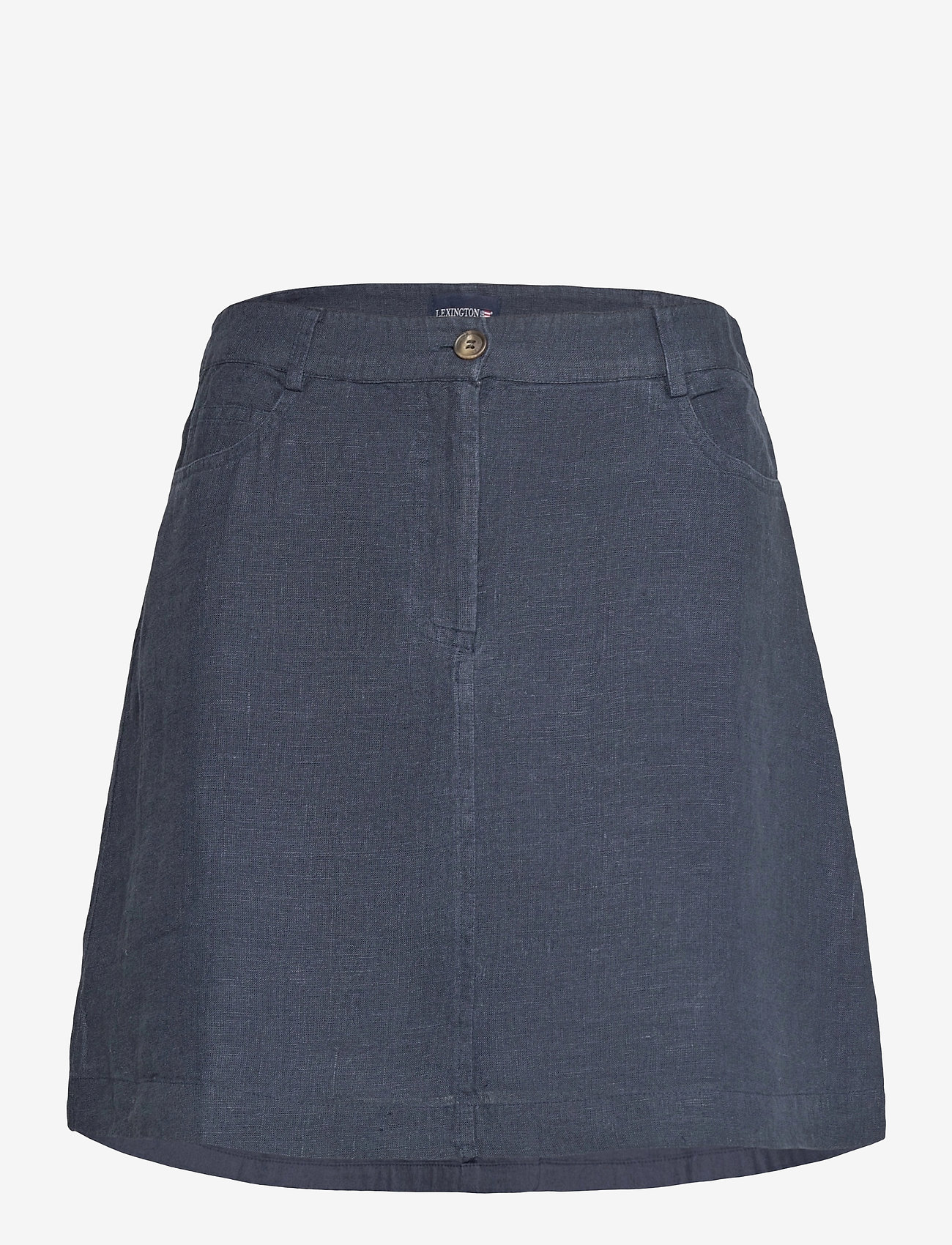 Lexington Clothing - Stella Linen Skirt - korta kjolar - dark blue - 1