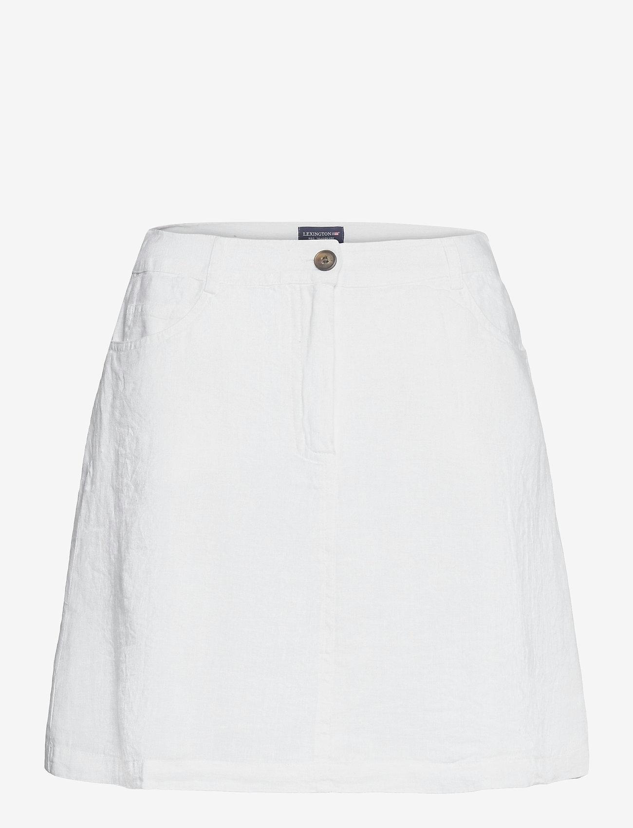 Lexington Clothing - Stella Linen Skirt - korta kjolar - offwhite - 1