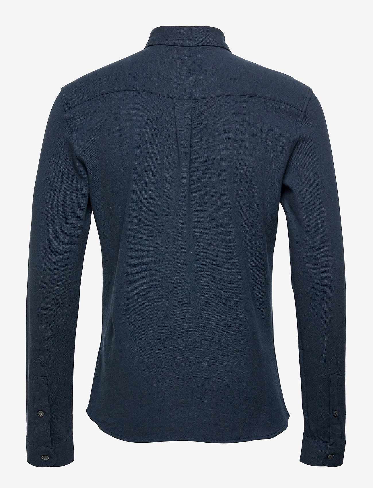 Lexington Clothing - Brett Organic Cotton Pique Shirt - geruite overhemden - dark blue - 2