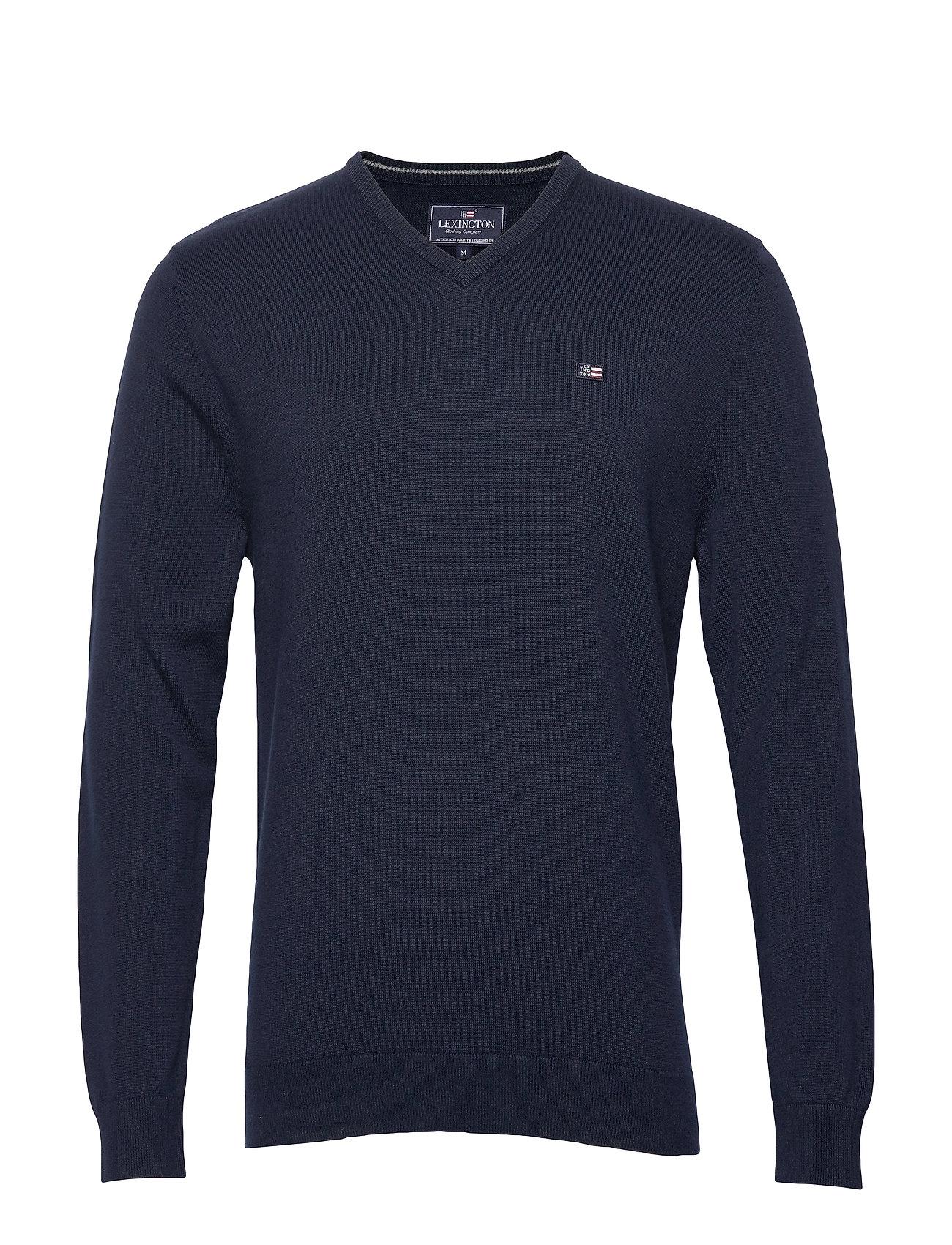 Lexington Clothing Allen V-Neck Sweater - DARK BLUE