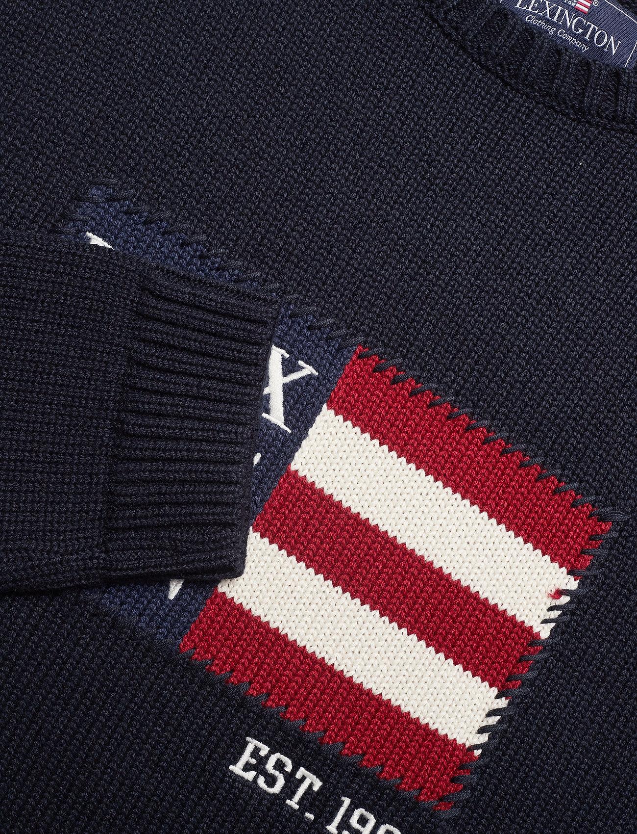 Lexington Clothing Dylan Sweater - Strikkevarer DARK BLUE - Menn Klær