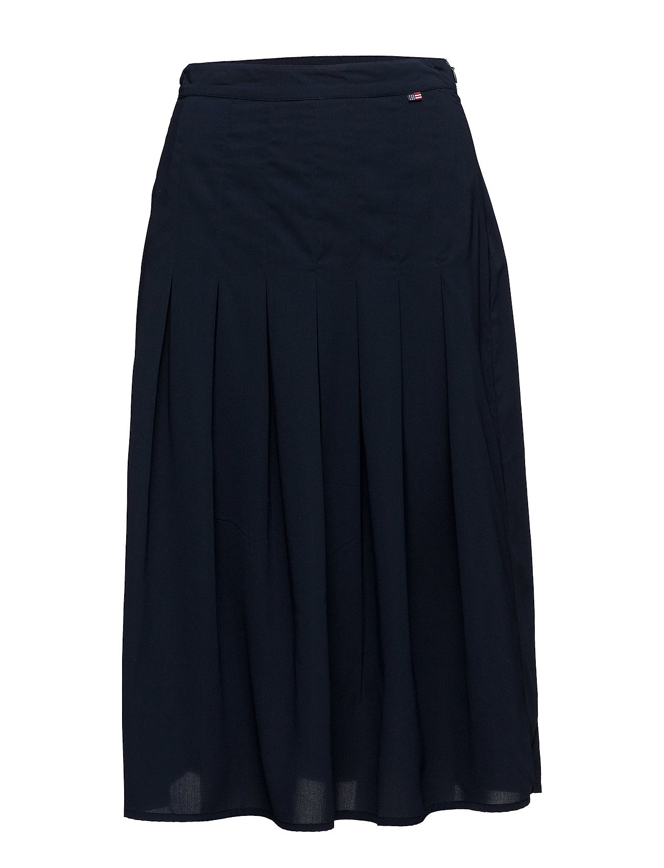 Lexington Clothing Amanda Plisse Skirt - Deepest Blue