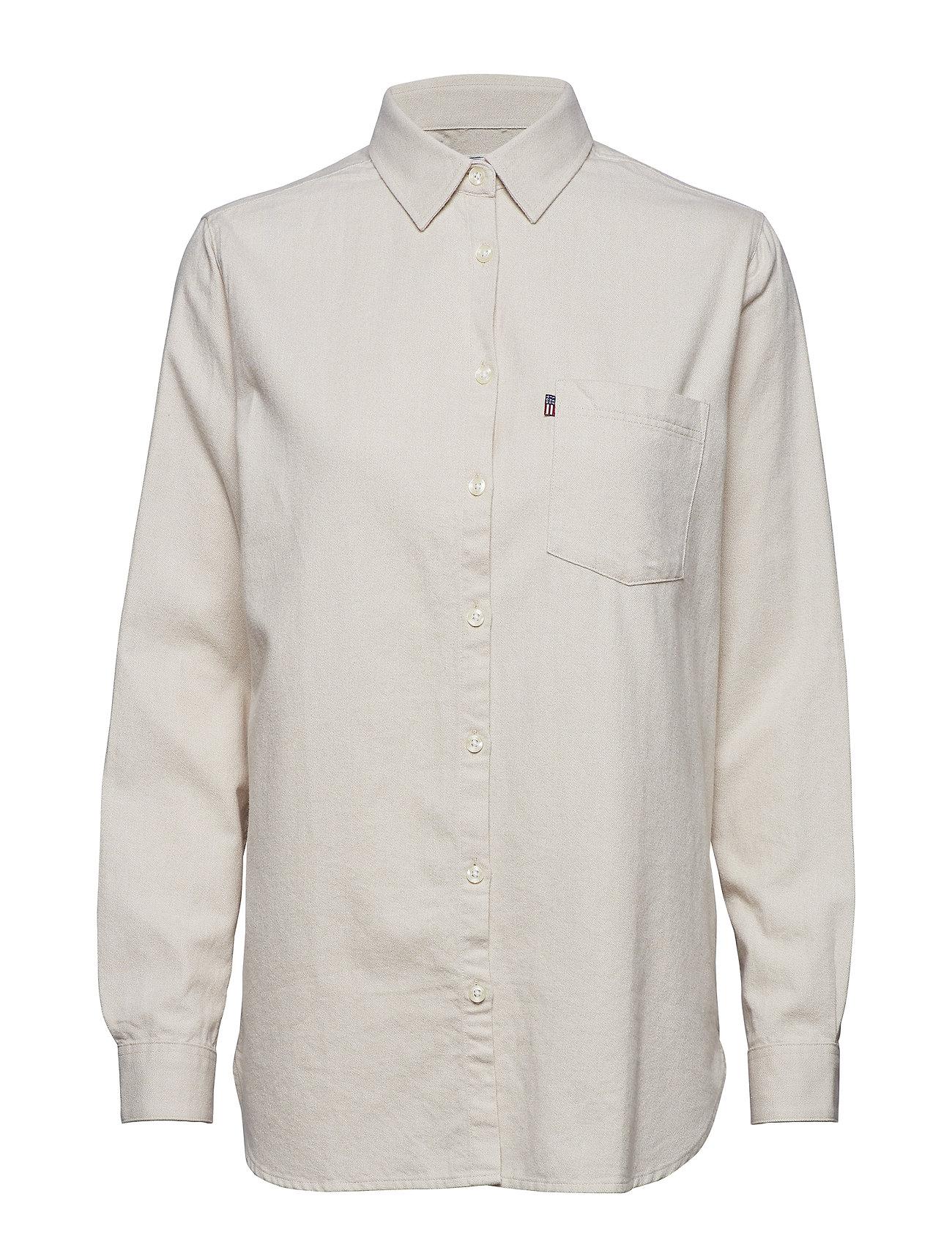 Lexington Clothing Isa Flannel Shirt - BEIGE MELANGE