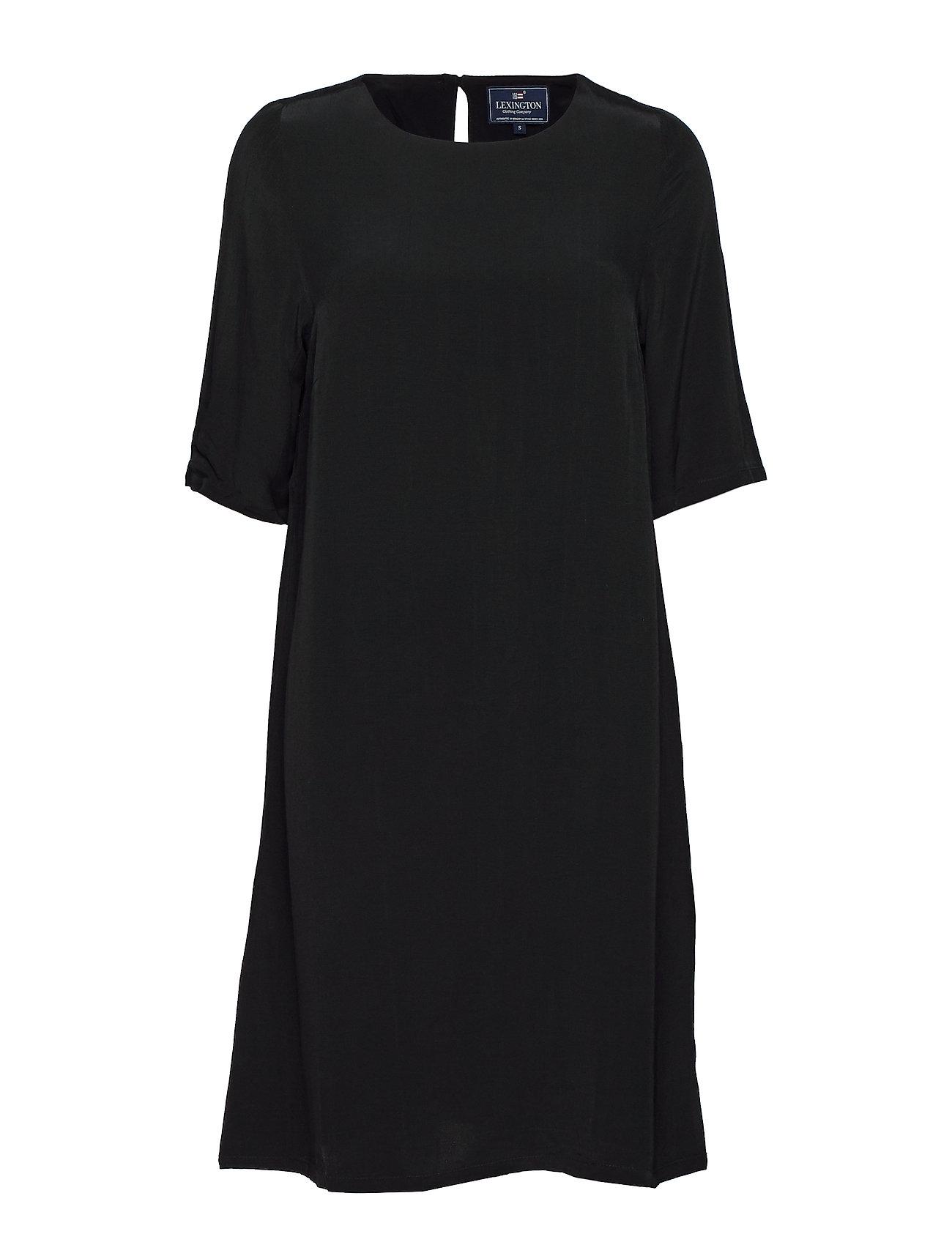 Grace Dress Knælang Kjole Sort Lexington Clothing