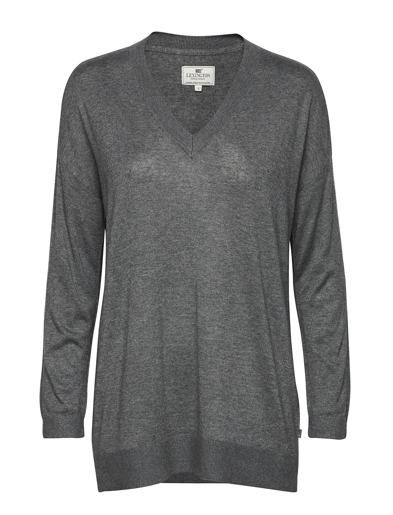 Lexington Clothing Ana Cotton Bamboo Sweater - HEATHER GRAY MELANGE