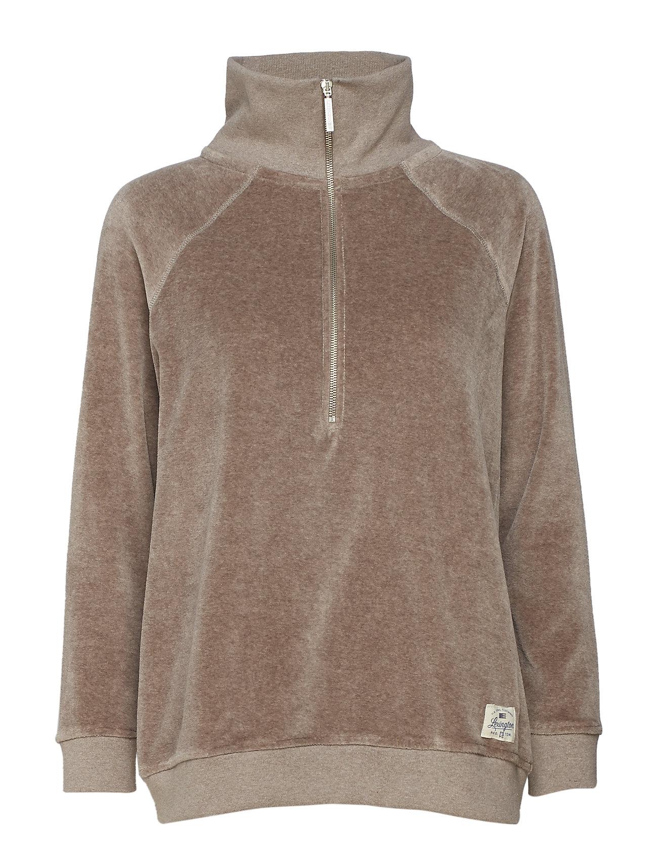 Lexington Clothing Vanna Velour Zip Sweater Ögrönlar