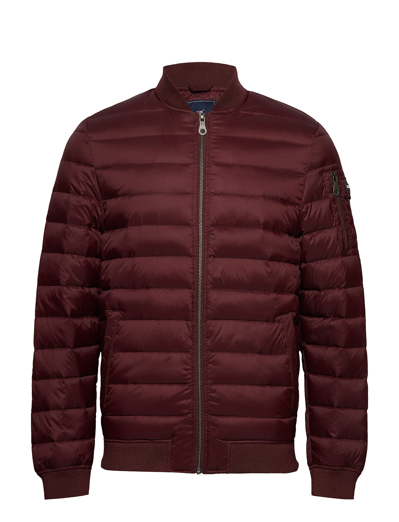 Lexington Clothing Aiden Bomber Down Jacket - BURGUNDY WINE