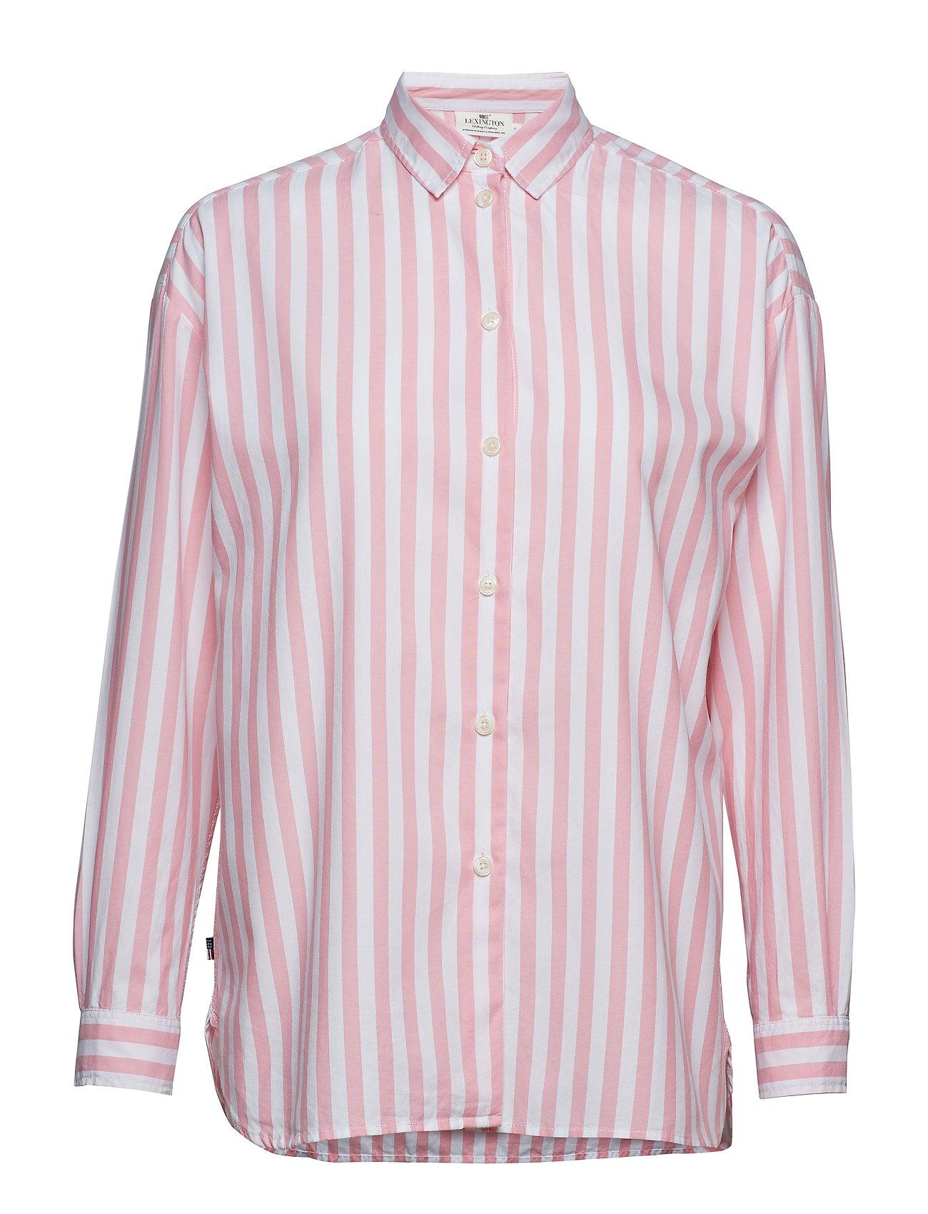 Lexington Clothing Edith Lt Oxford Shirt - PINK/WHITE STRIPE