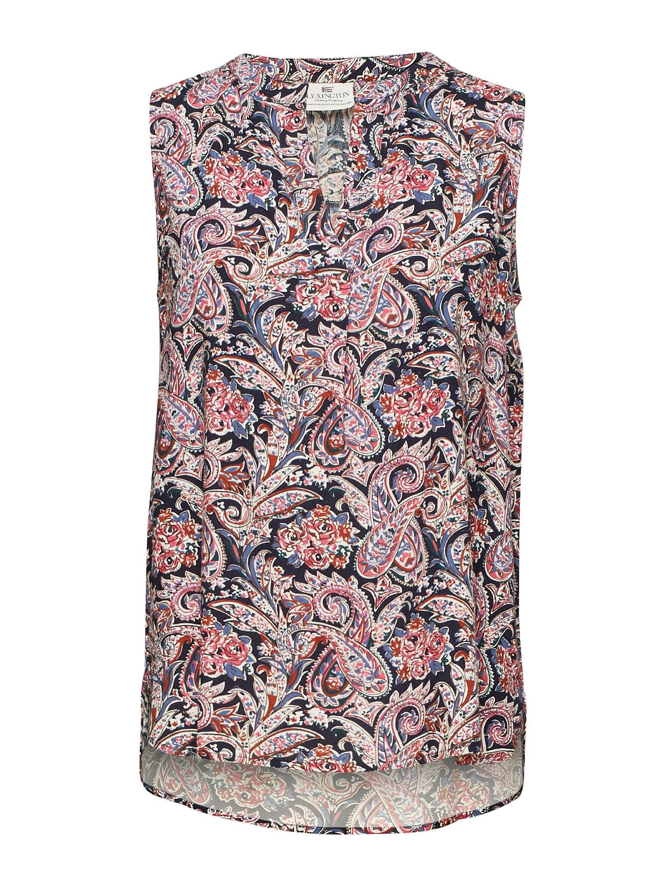 Lexington Clothing Nadeen Paisley Top - PAISLEY PRINT