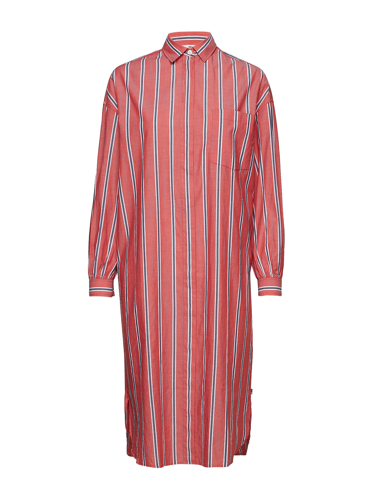 Lexington Clothing Marlowe Cotton Voile Dress - PINK MULTI STRIPE