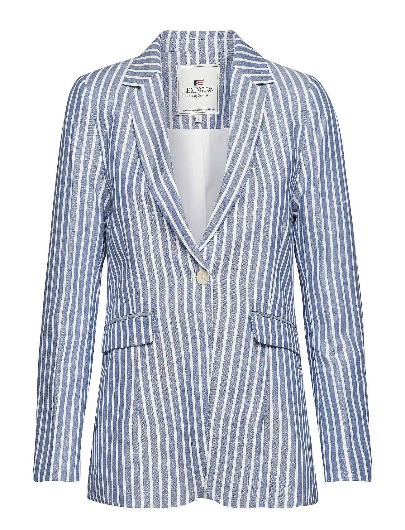 Lexington Clothing Frida Linen Blazer - BLUE/WHITE STRIPE
