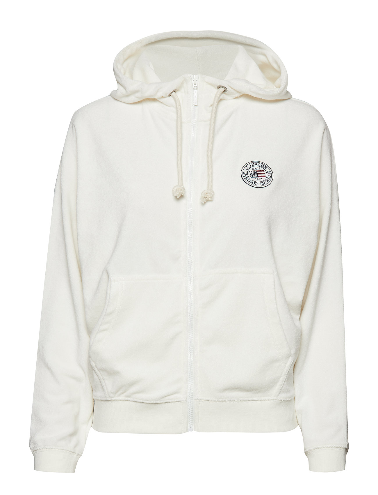 Lexington Clothing Carolin Terry Hoodie - GARDENIA WHITE