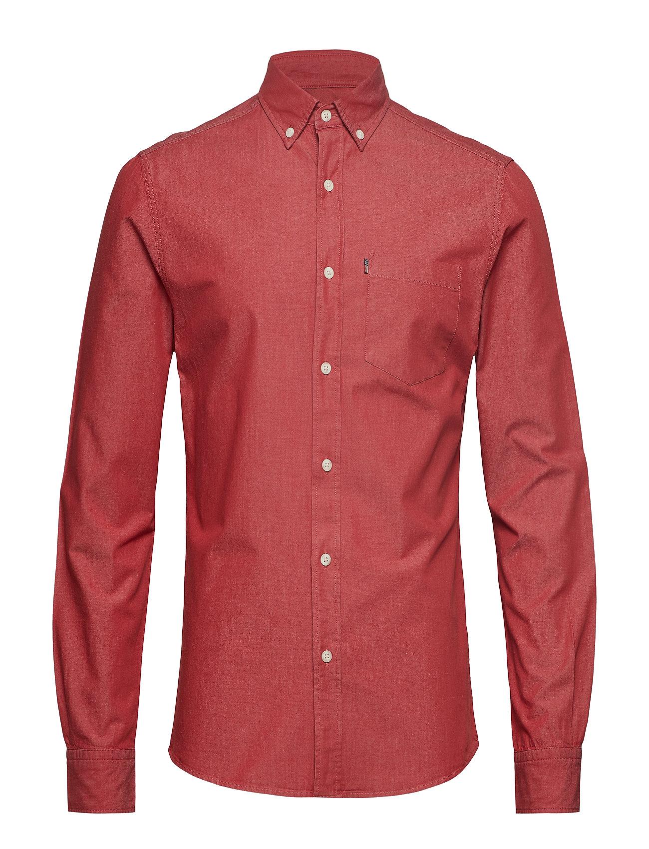 Lexington Clothing Clive Denim Shirt - RED