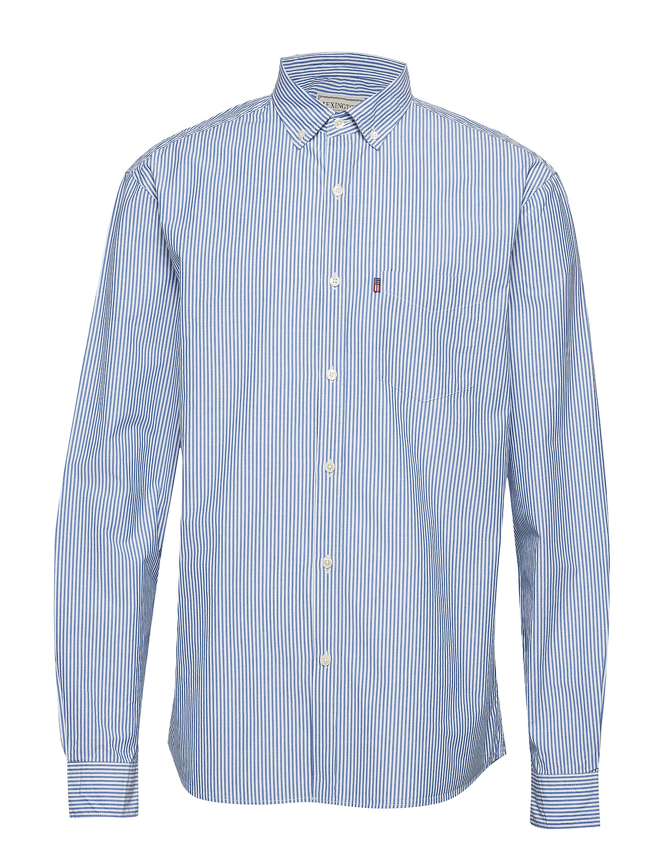 Lexington Clothing Taylor Poplin Shirt - BLUE/WHITE STRIPE