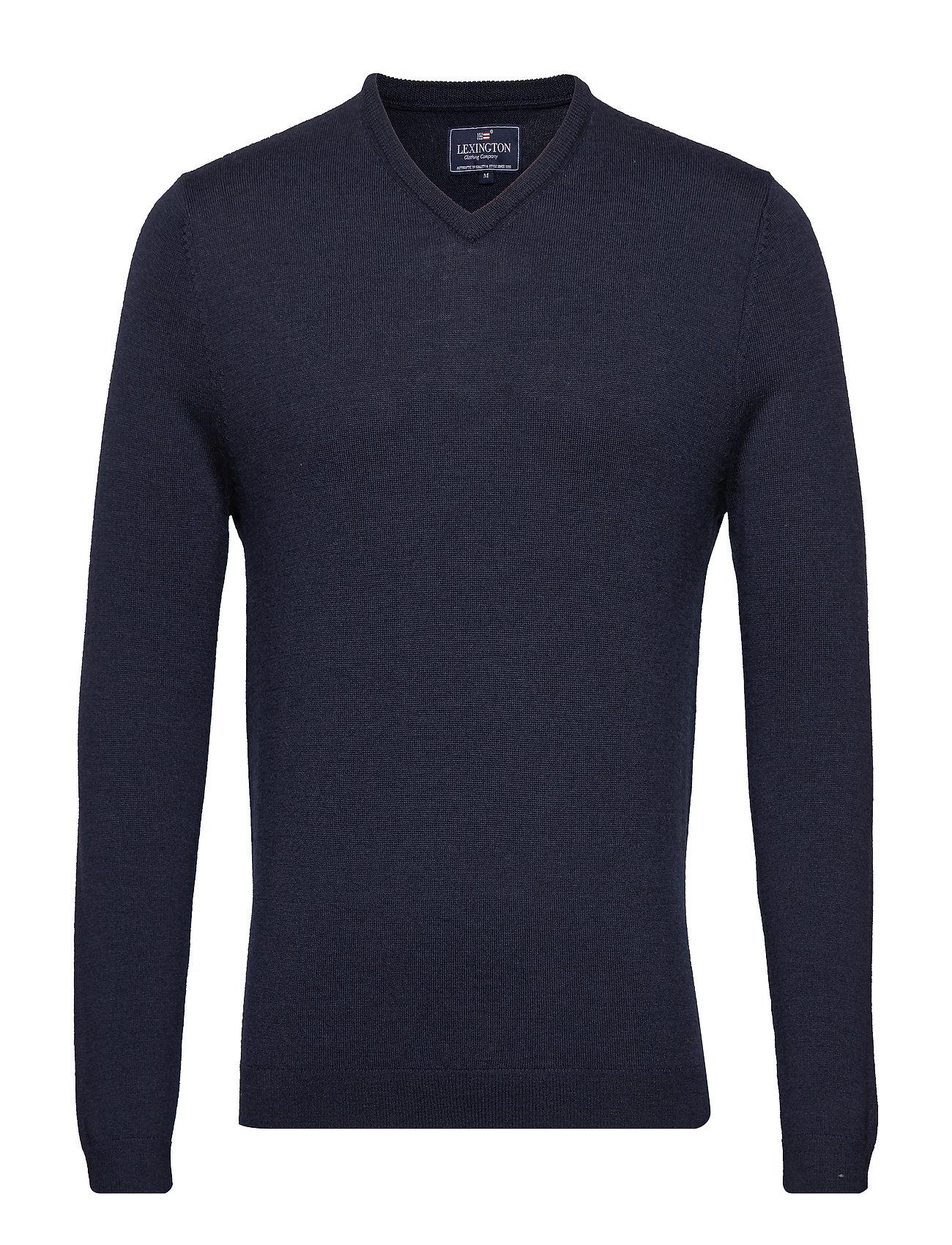 V neck BlueLexington Sweaterdeep Marine Ian Clothing Merino BtdCshQrox