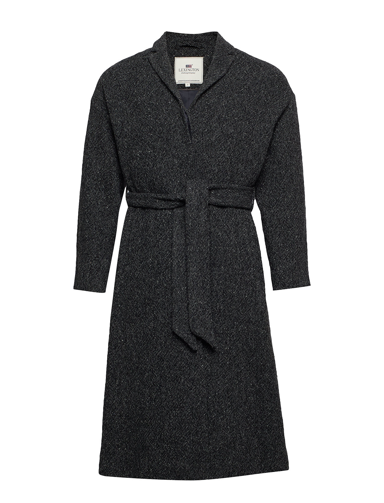 Lexington Clothing Alice Wool Coat - DARK GRAY MELANGE