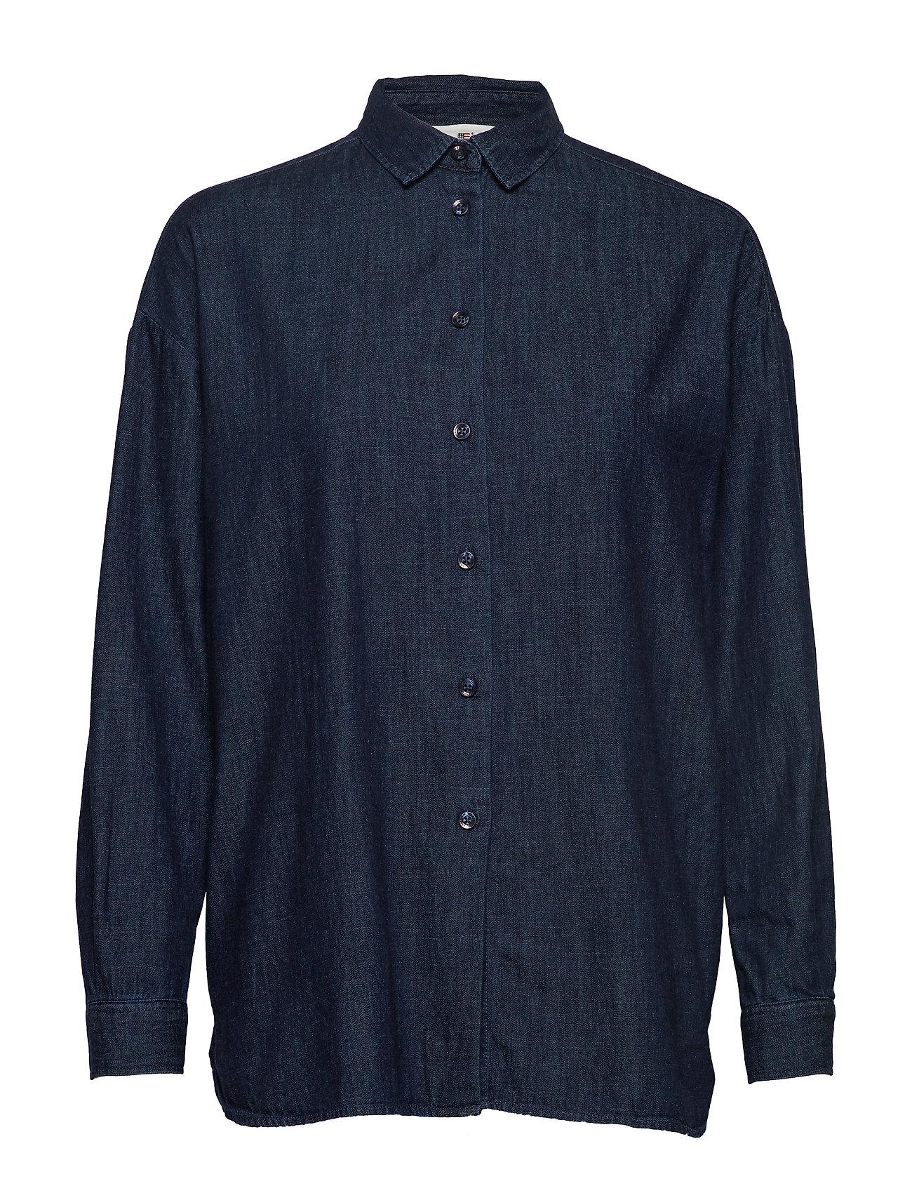 Lexington Clothing Edith Denim Shirt - DARK BLUE DENIM