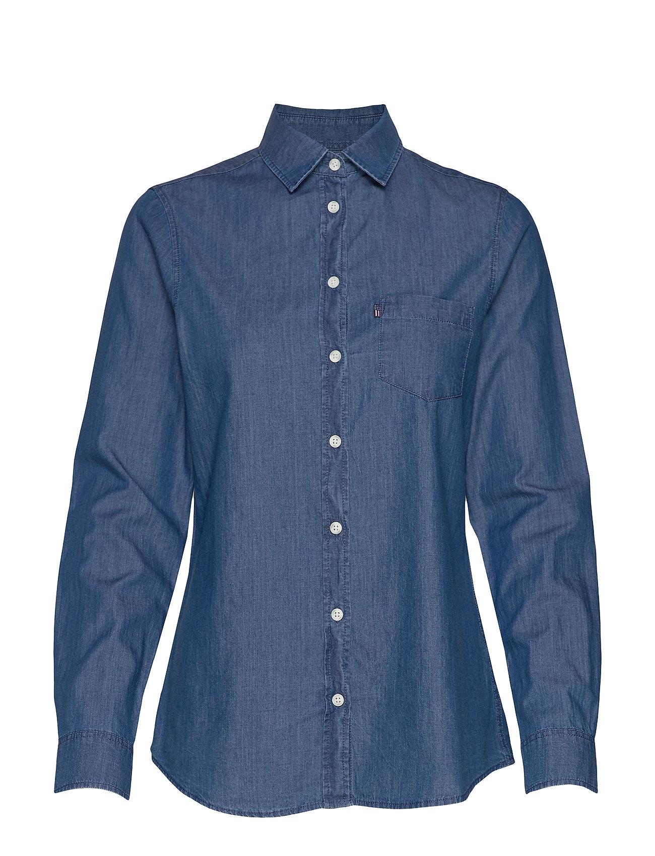 Lexington Clothing Emily Denim Shirt - MEDIUM BLUE DENIM