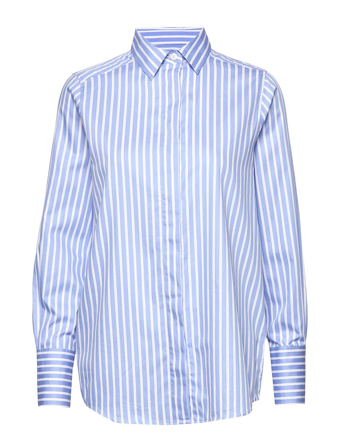 Lexington Clothing Misha Shirt - BLUE/WHITE STRIPE