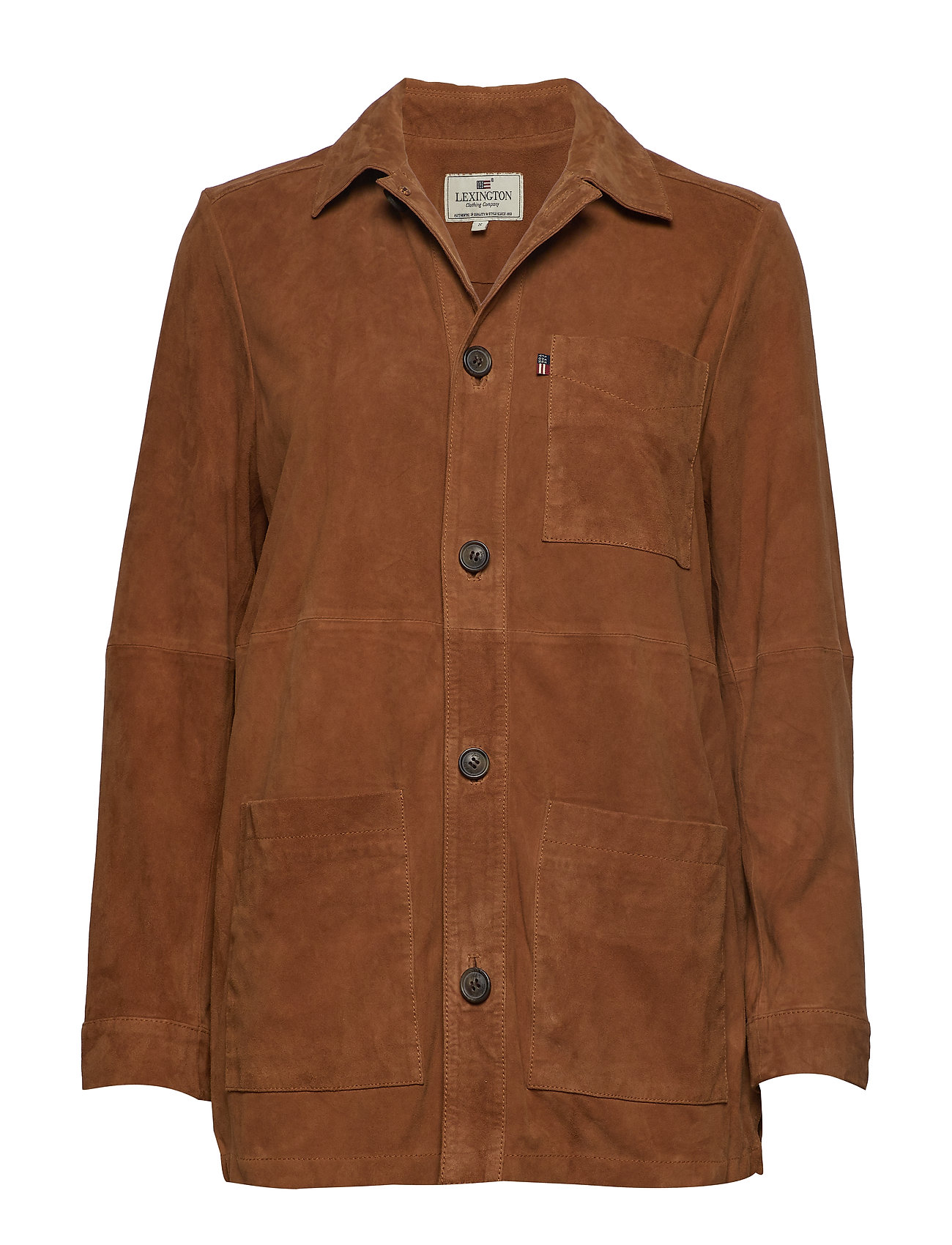 Lexington Clothing Kathy Suede Worker Shirt - BEIGE