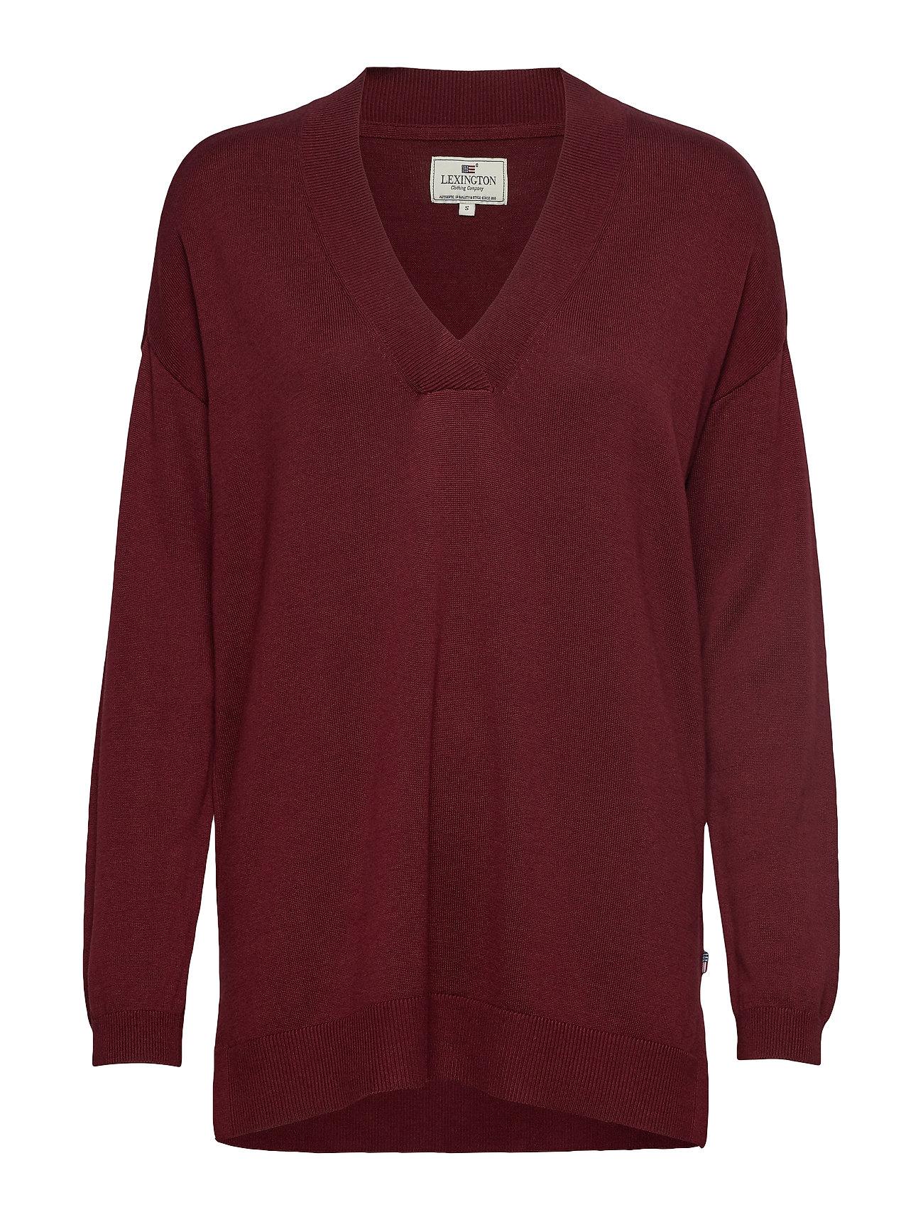 Lexington Clothing Ana V-neck Sweater - DARK RED