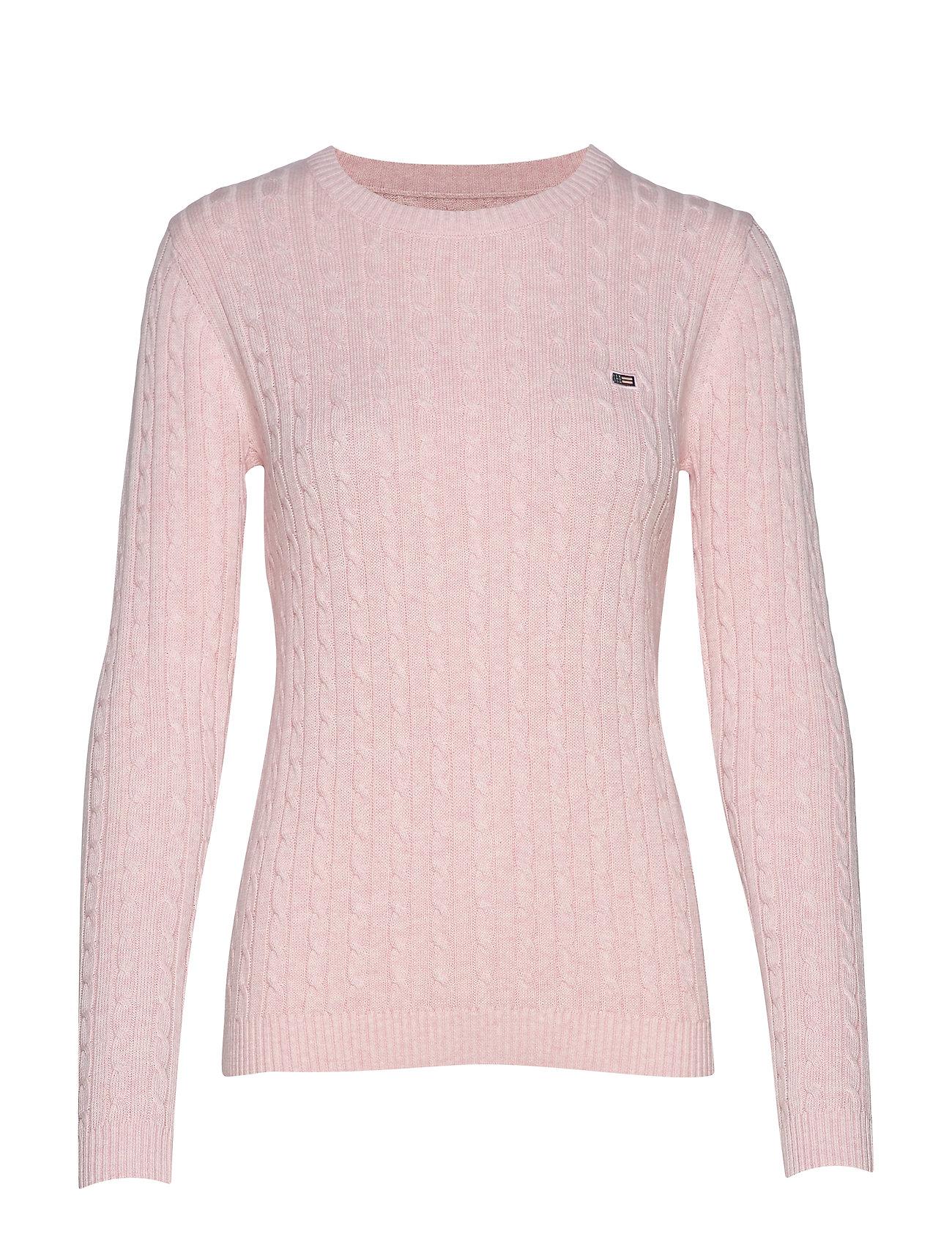 Lexington Clothing Felizia Cable Sweater - PINK MELANGE