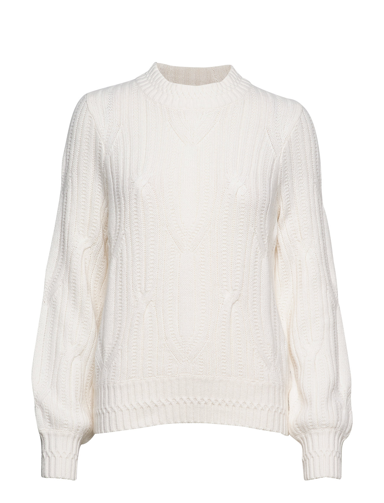 Lexington Clothing Trista Cable Sweater - WHITE