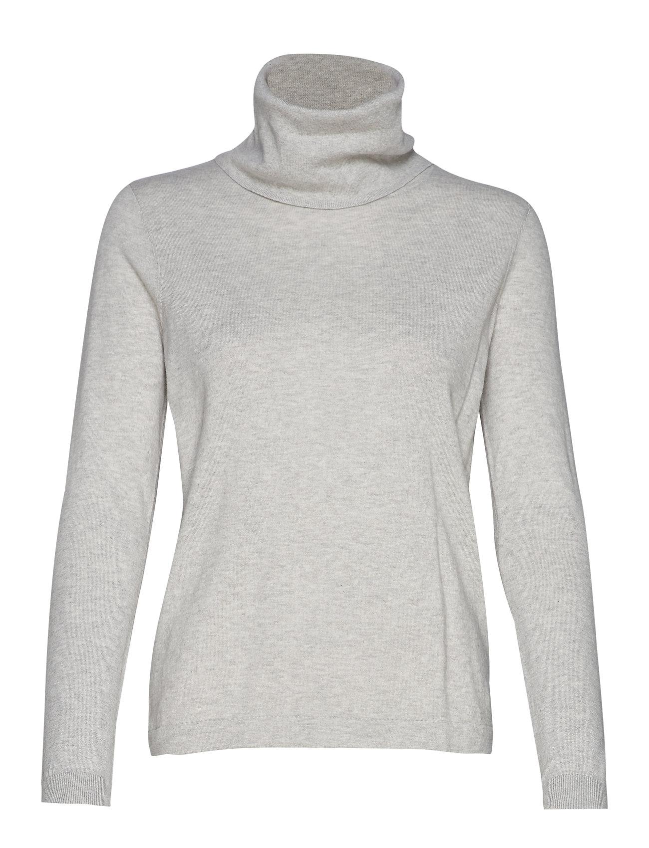 Lexington Clothing Francoise Roll Neck Sweater - LIGHT GREY MELANGE