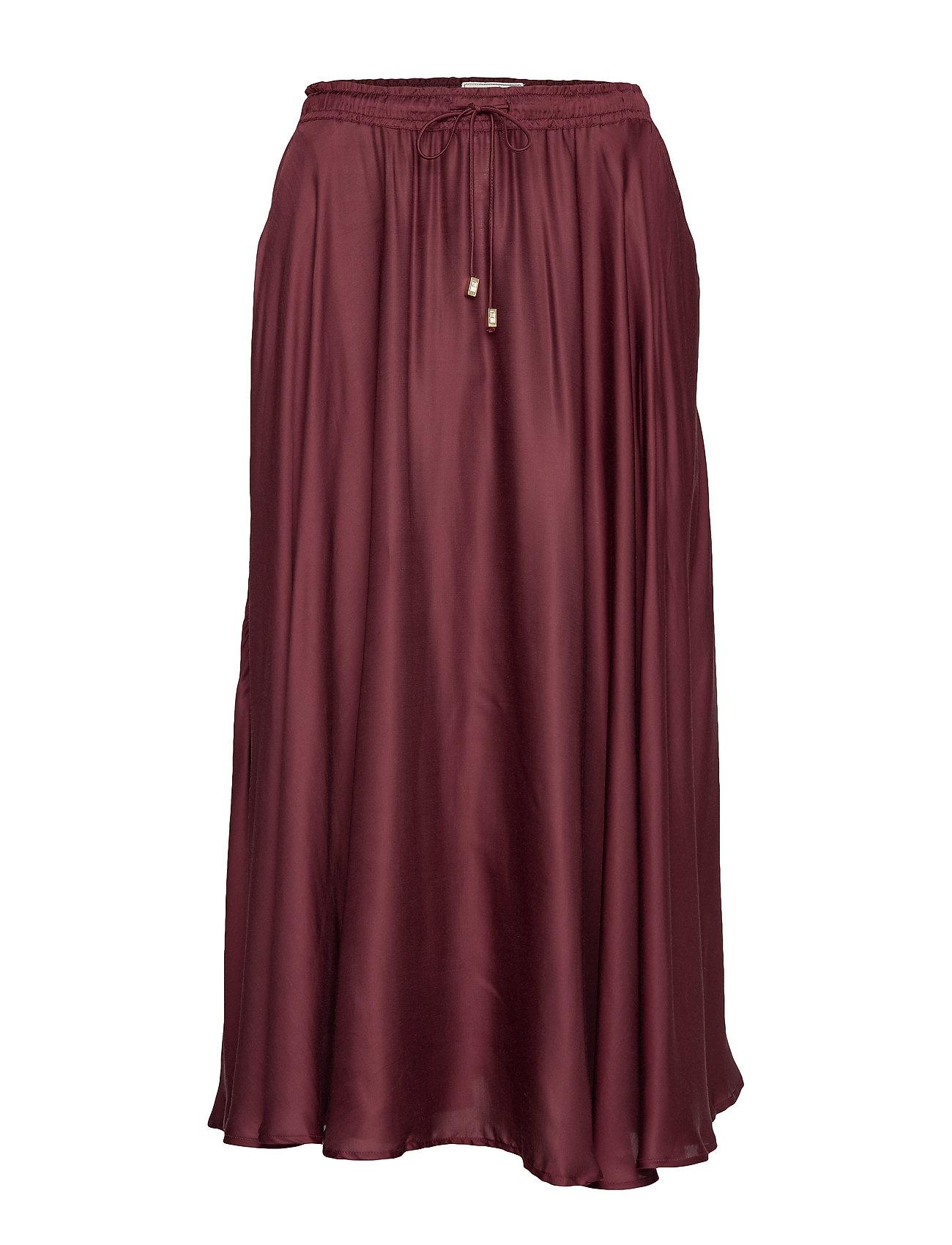 Lexington Clothing Della Satin Skirt - DARK RED