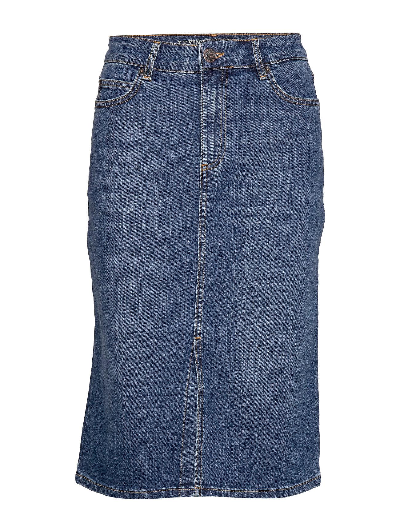 Lexington Clothing Millie Denim Skirt - MEDIUM BLUE DENIM