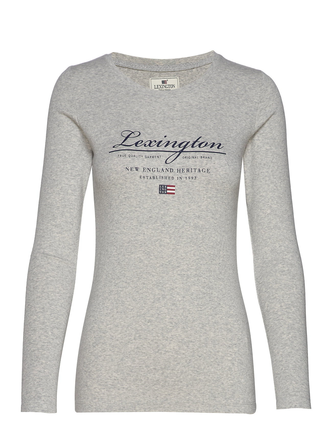 Lexington Clothing Thelma Logo Tee - LIGHT GREY MELANGE