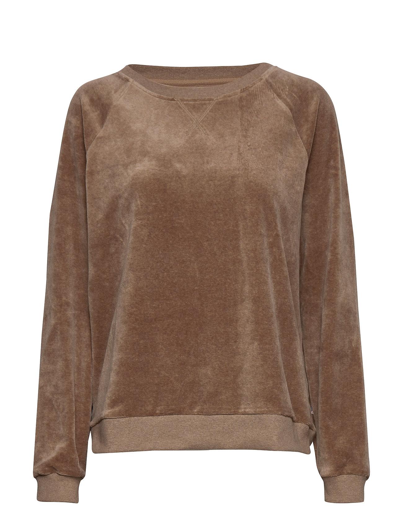 Lexington Clothing Martha Velour Sweatshirt - BEIGE MELANGE