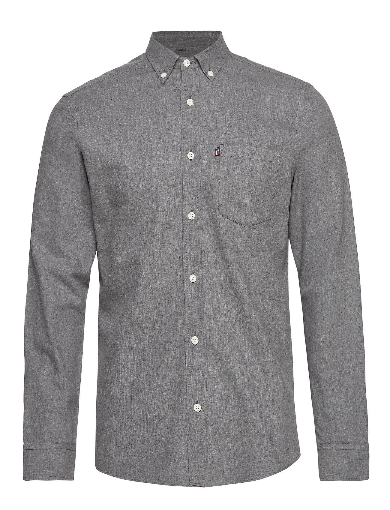 Lexington Clothing Peter Lt Flannel Shirt - GRAY MELANGE