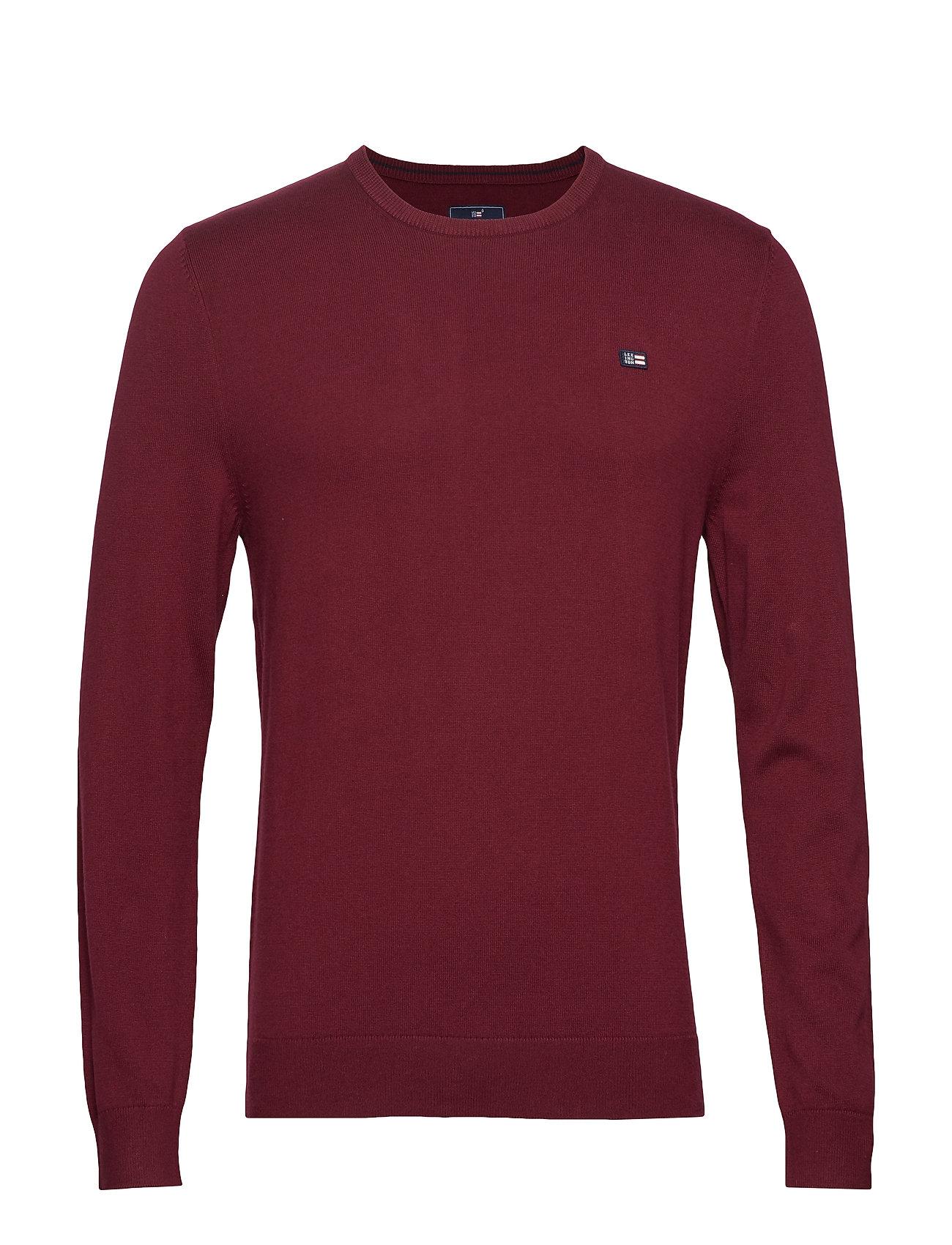 Lexington Clothing Bradley Crew Neck Sweater - DARK RED