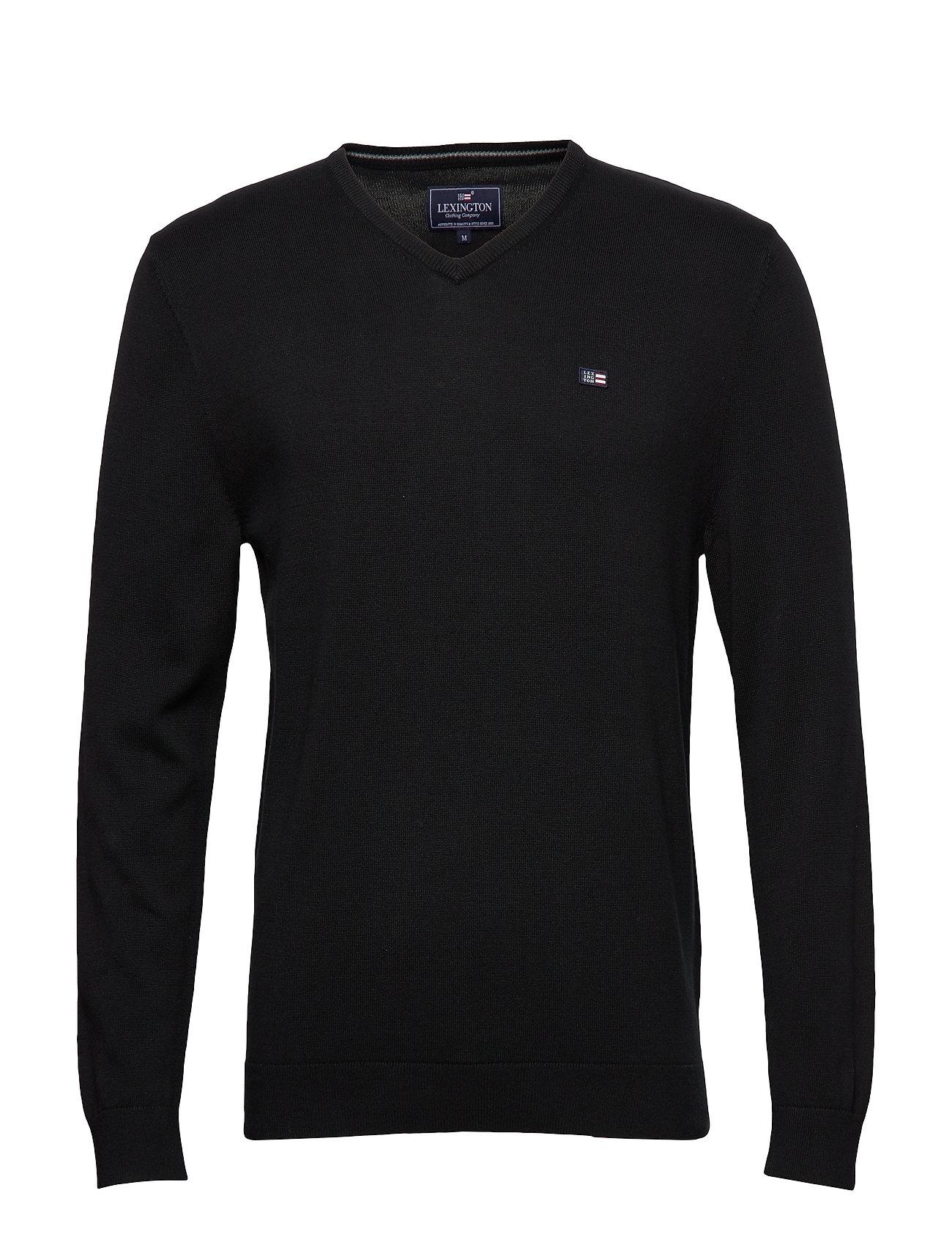 Lexington Clothing Allen V-Neck Sweater - BLACK