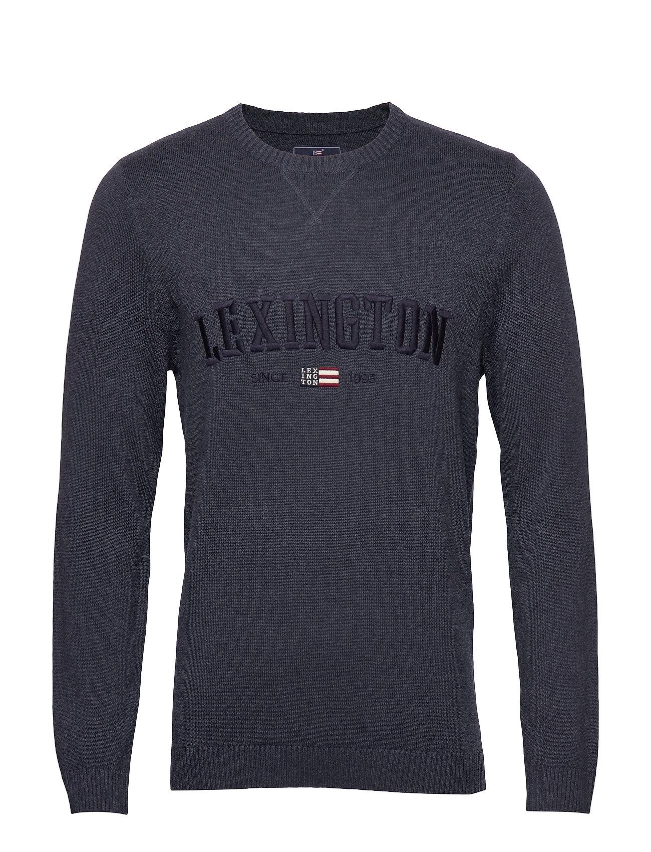 Lexington Clothing Nelson Knitted Sweatshirt - BLUE MELANGE